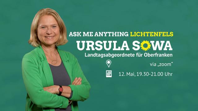 Unsere MdL Ursula Sowa lädt ein zu einem Ask Me Anything